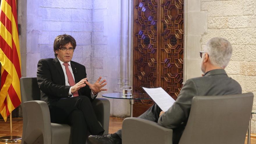 """Puigdemont dice que no se puede suspender el referéndum: """"Hay una nueva legalidad"""""""