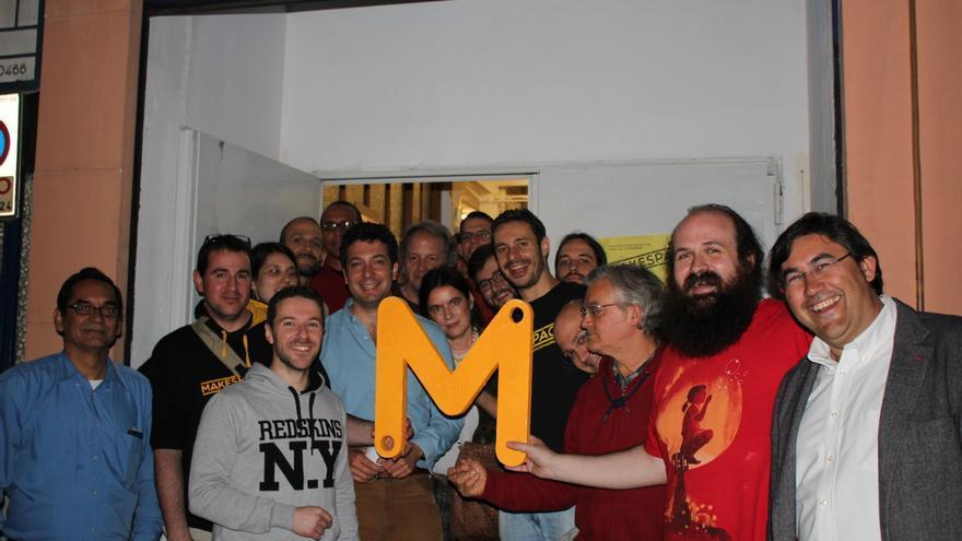 Makespace Madrid celebró ayer su aniversario con su emblema