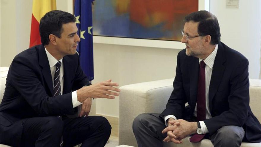 """Pedro Sánchez dice que ha habido """"más diferencias que coincidencias"""" con Rajoy"""
