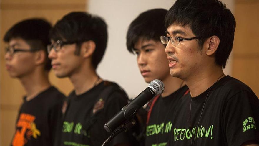 Estudiantes de Hong Kong viajarán mañana a Pekín para reclamar elecciones