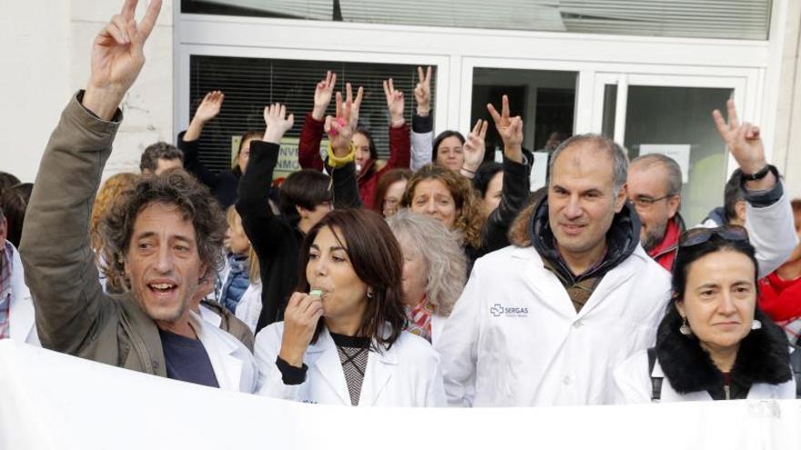 Protesta de profesionales sanitarios en Galicia