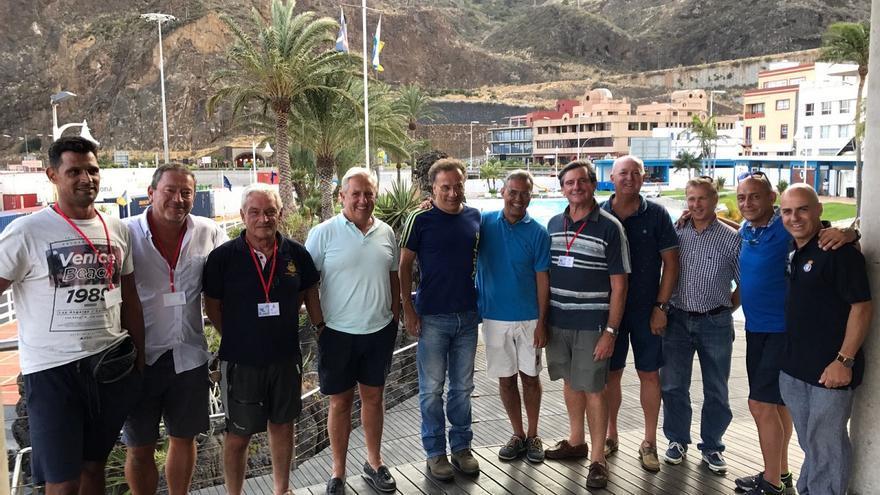 Acto de recibimiento de los regatistas en el Club Náutico de Santa Cruz de La Palma.