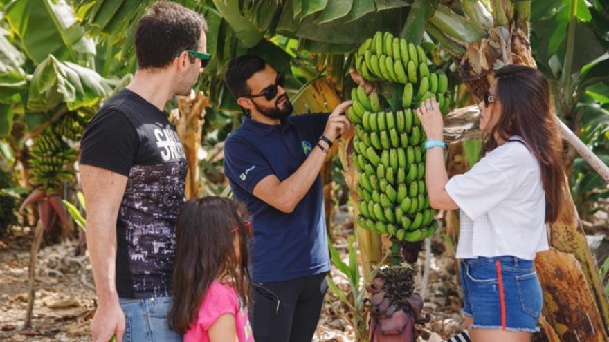 Un momento de la visita realizada por los ganadores a una finca de Gran Canaria
