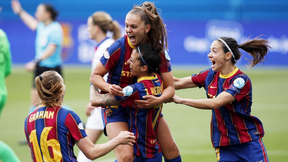 Las jugadores del F.C. Barcelona