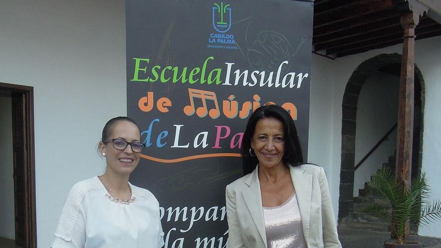 Susana Machín (i) y Mila Álvarez.