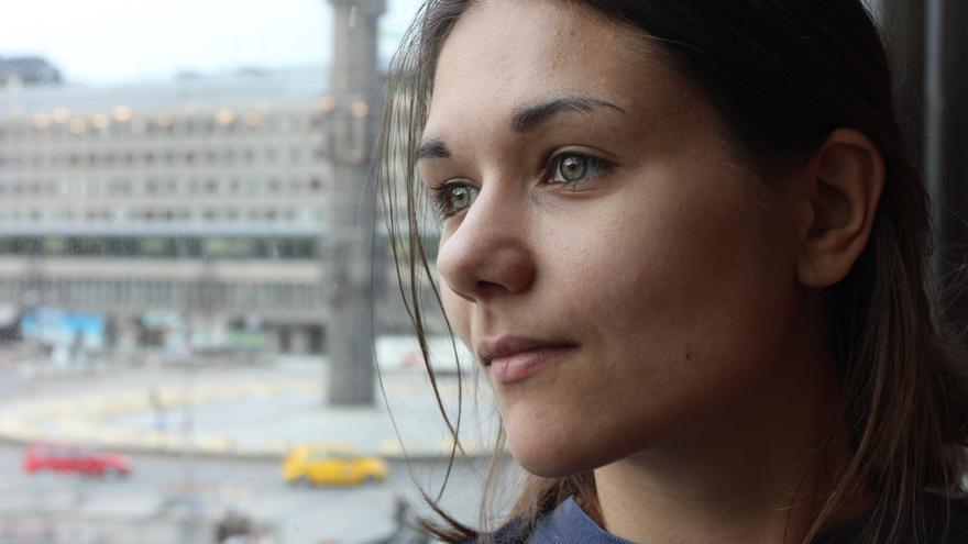 Amelia Andersdotter, diputada por el Partido Pirata sueco en el Parlamento Europeo / Foto: Joan Pla