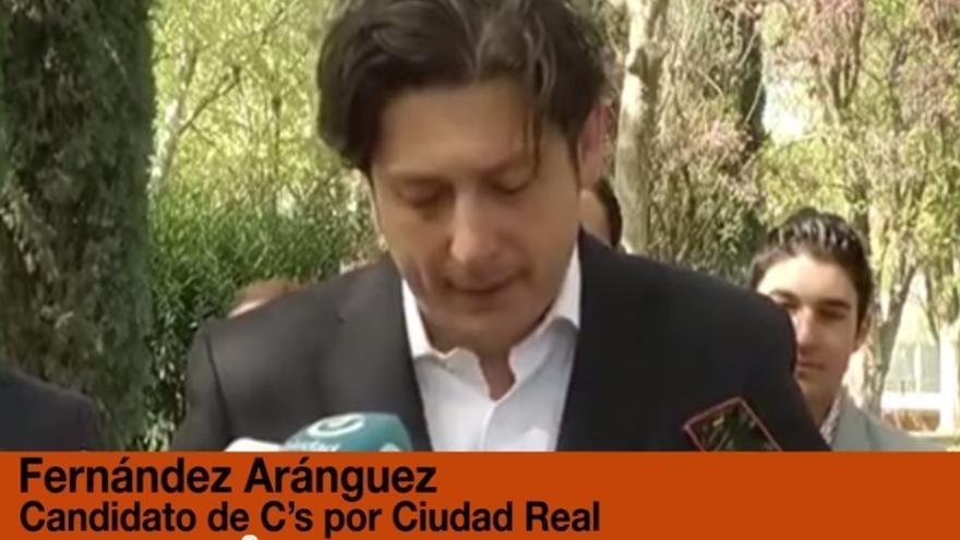 Captura del vídeo montaje sobre el candidato de Ciudadanos en Ciudad Real