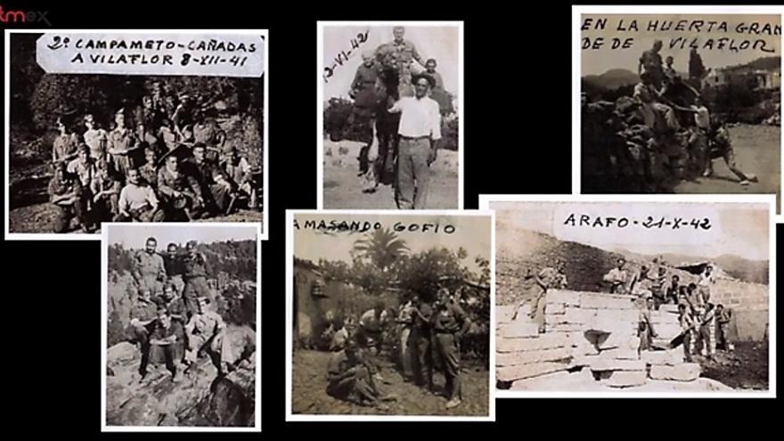 Primeras fotos en el campo de trabajo de Tenerife en los años 1941 y 1942. | MANUEL DE COS