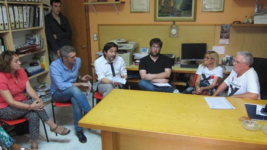 Reunión entre líderes de Podemos y la Plataforma Pro Soterramiento