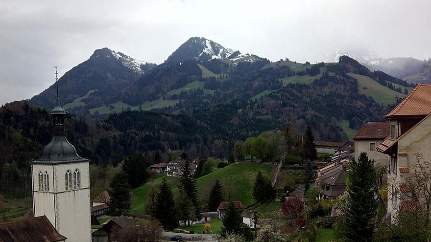 Vista desde Gruyères.