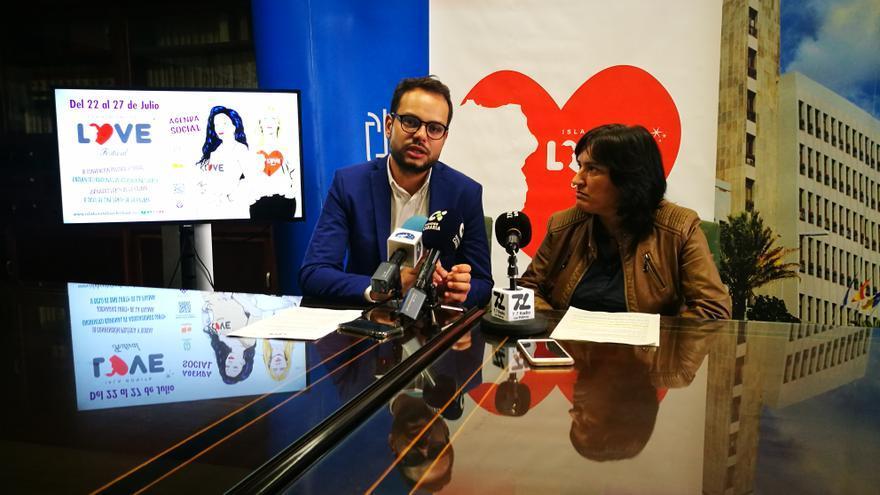 Jordi Pérez y Alicia Pérez en la rueda de prensa.