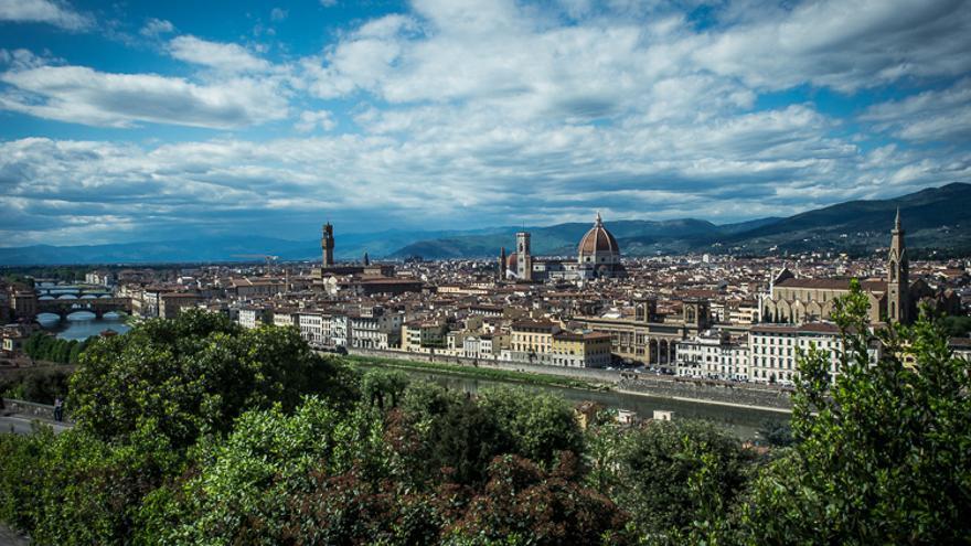 Vistas de Florencia desde el Piazzale Michelangelo.