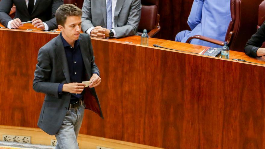 Íñigo Errejón durante la sesión constitutiva de la legislatura