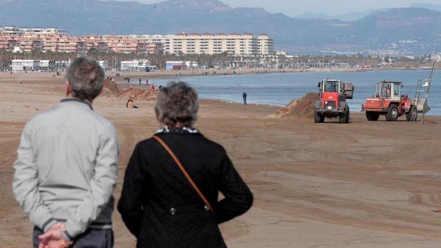 Playas del Golfo de Valencia retroceden hasta 32 metros por el paso de Gloria