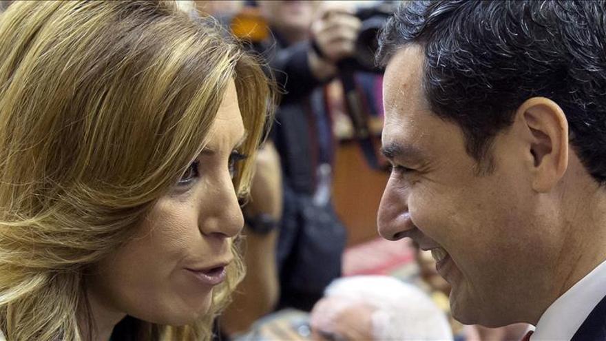 Susana Díaz conversa con Moreno Bonilla