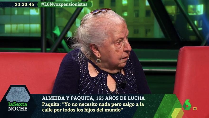 La pensionista Paquita en laSexta Noche