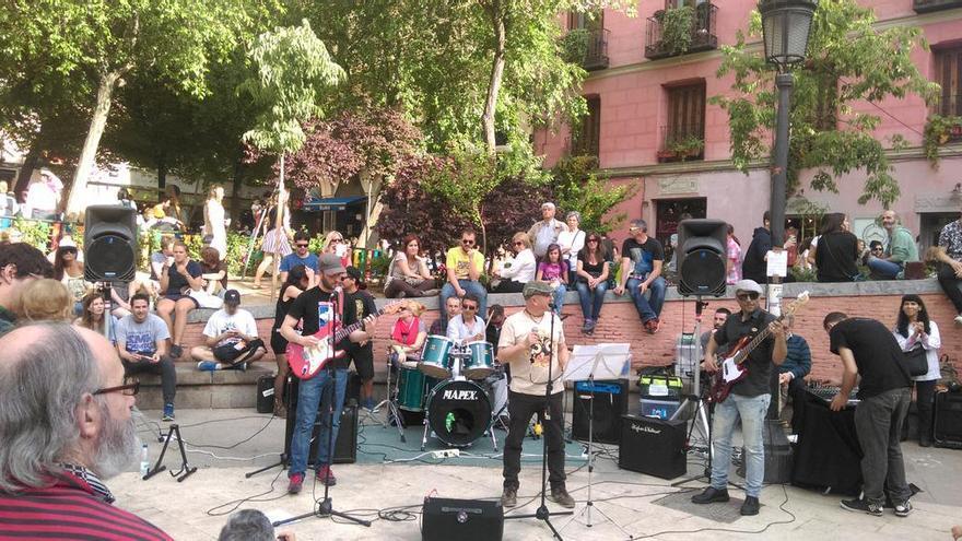 Los Harie Boogies, en una de sus actuaciones pasadas en las Fiestas del 2 de Mayo