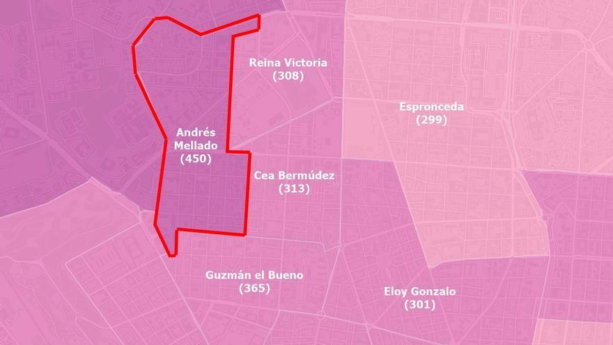 Descienden los casos de coronavirus en Chamberí, con la incidencia en Andrés Mellado por debajo de 500