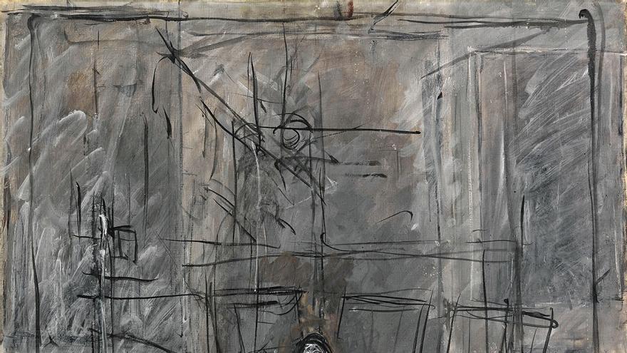 Alberto Giacometti Isabel à l'atelier [Isabel en el estudio], 1949