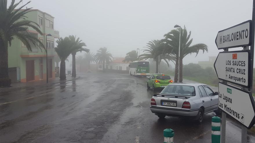 Día de lluvia, este jueves, en Barlovento.