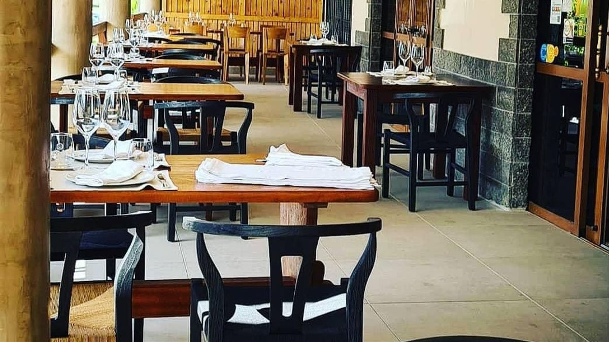 Interior de un restaurante en Tenerife.