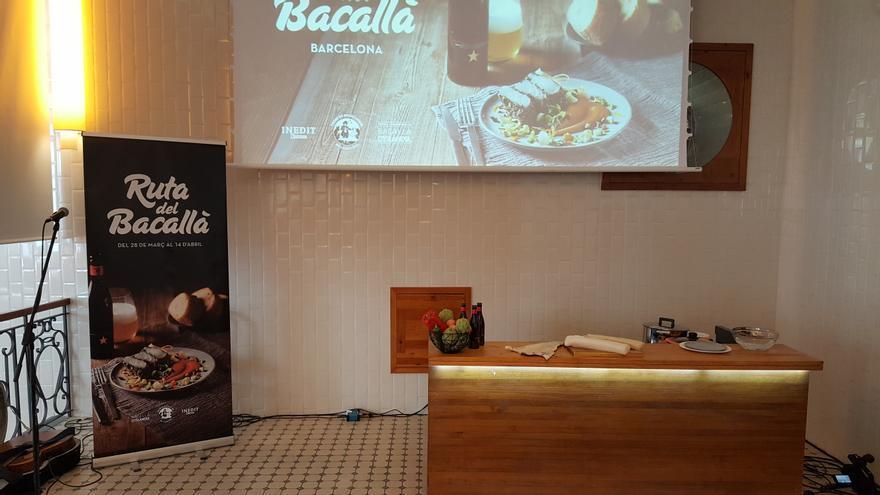 Presentación de la séptima edición de la 'Ruta del Bacallà' de Barcelona