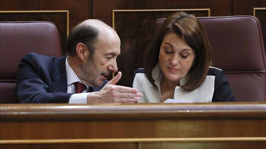 """Soraya Rodríguez cree que es """"evidente"""" que Rubalcaba ganó el debate"""