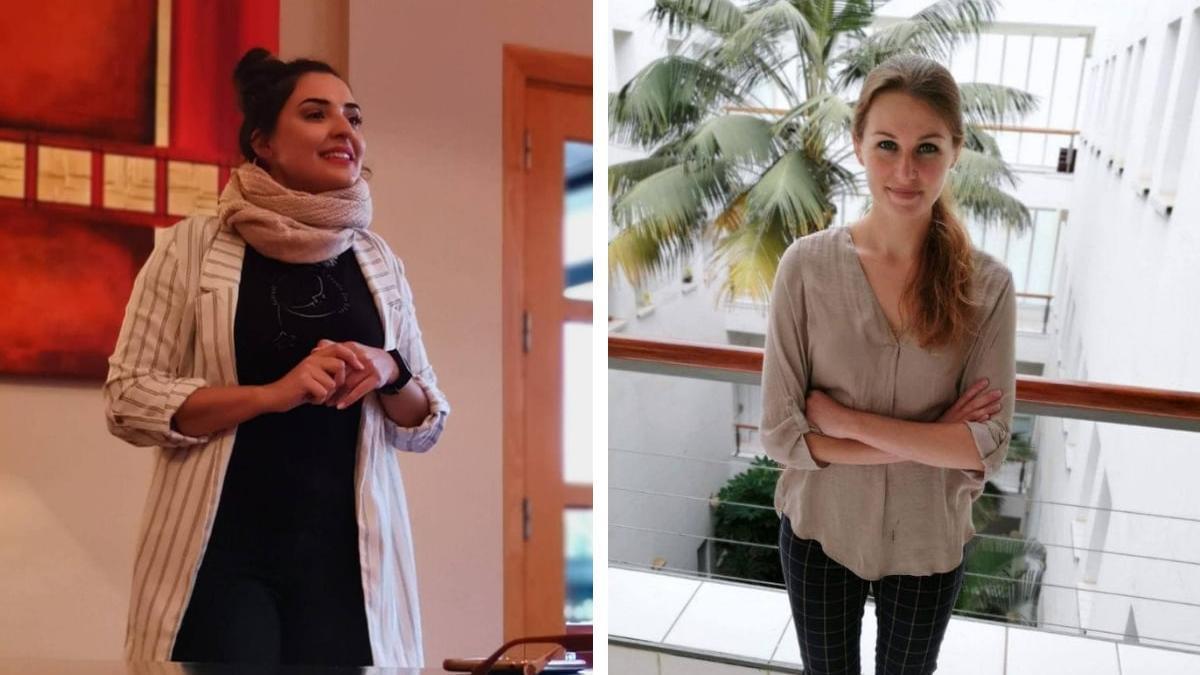 Tatiana y Kelly, doctorandas afectadas por la reducción de la cuantía de becas.