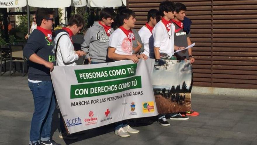 Marcha solidaria por los refugiados en Guadalajara / Foto: @JL_escudero