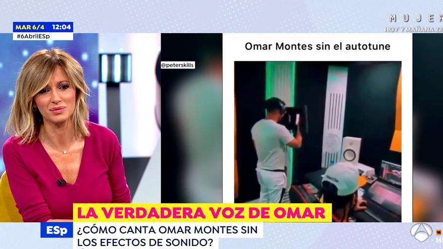Susanna Griso comenta el vídeo de Omar Montes cantando sin autotune