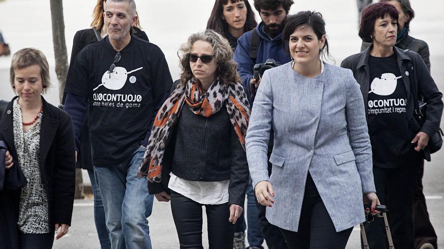 Ester Quintana a la llegada a los juzgados