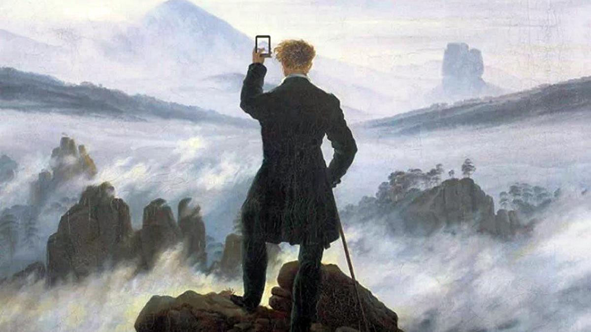Fotomontaje a partir de una obra de C.D. Friedrich.