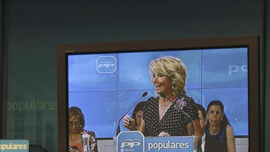 Esperanza Aguirre en un acto con militantes del PP