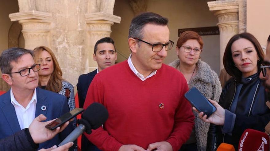 El líder de los socialistas murcianos, Diego Conesa, este sábado en Yecla
