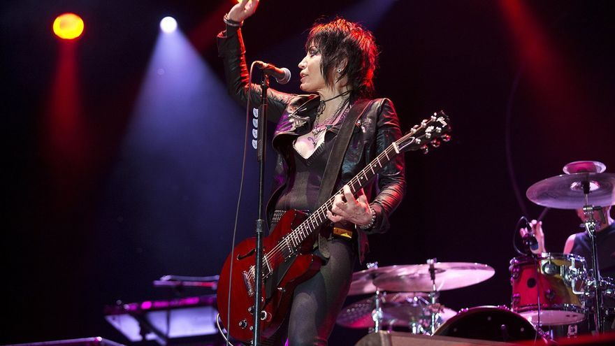 Joan Jett and the Blackhearts, en el concierto del Azkena Rock Festival.