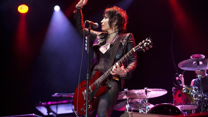 Joan Jett and the Blackhearts, en el concierto del Azkena Rock Festival.