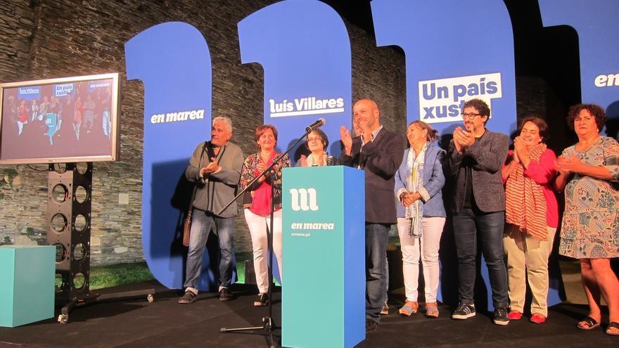 """En Marea inicia la campaña con un llamamiento a """"enterrar los siete años funestos"""" del """"traidor"""" Feijóo"""