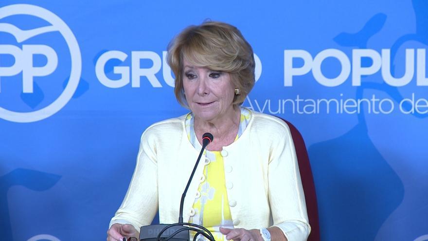 """Esperanza Aguirre cree que Rajoy está ante la """"oportunidad"""" de demostrar que se puede gobernar en minoría"""