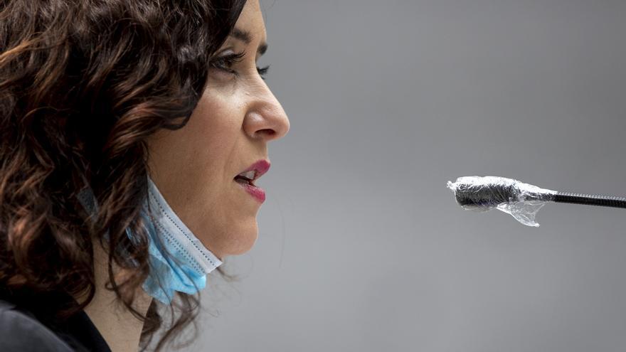 Isabel Díaz Ayuso durante un acto oficial el pasado 11 de abril