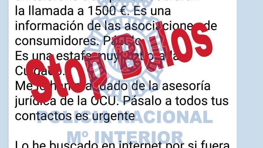 Llamada de 1.500 euros. (Policía Nacional).