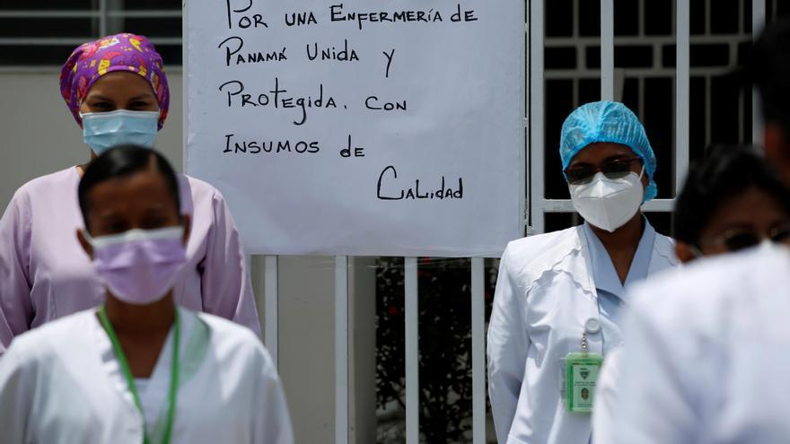 Enfermeras levantan paro en Panamá tras acuerdos laborales con el Gobierno