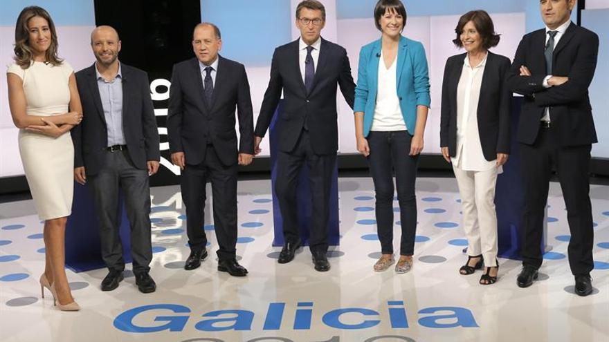 """Los partidos trasladan al debate que el futuro de Galicia está muy """"en juego"""""""