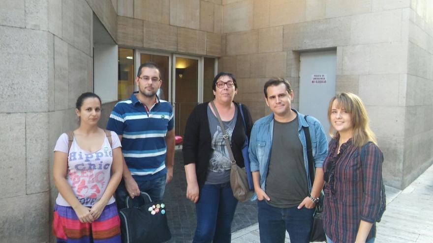 Representantes de Equo e IU-V Región de Murcia con los promotores de AeC