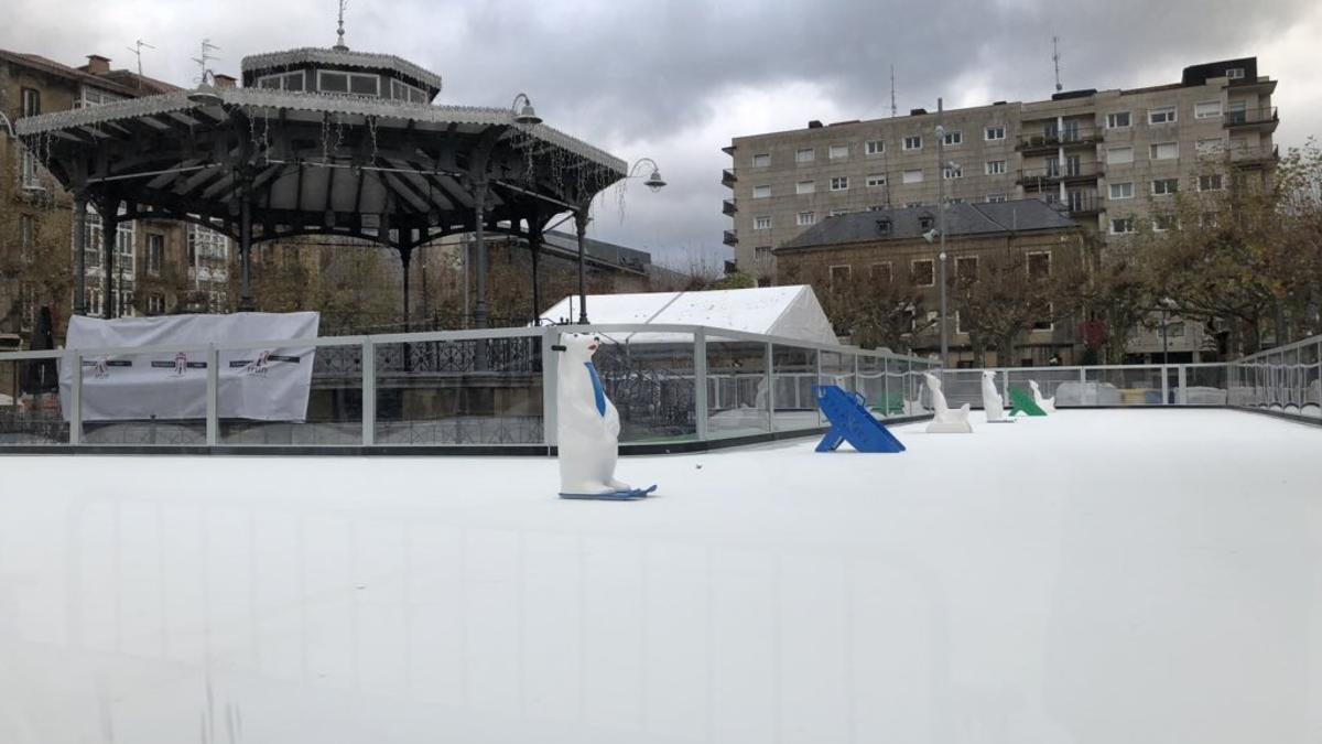 La pista de hielo de Irún, en un invierno pasado