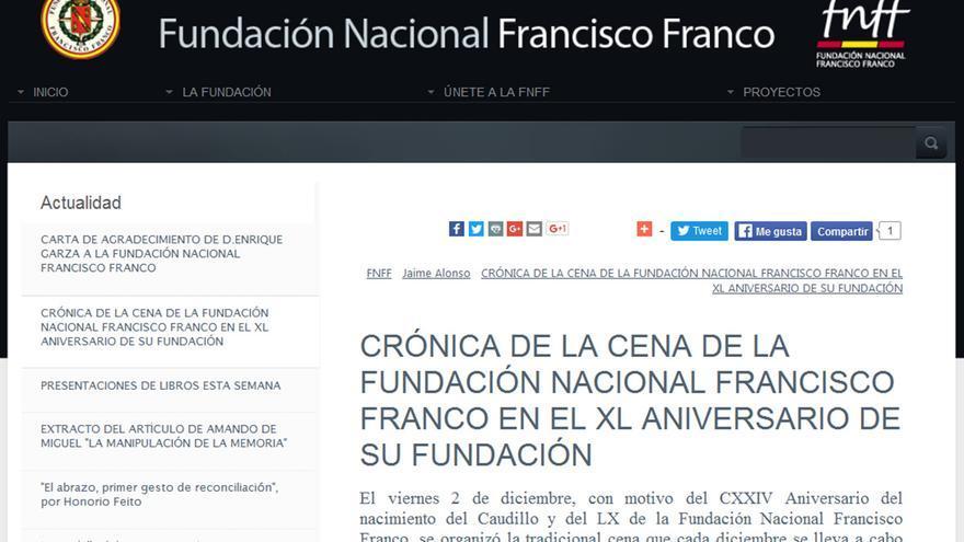 'Crónica' de la cena homenaje a Franco.