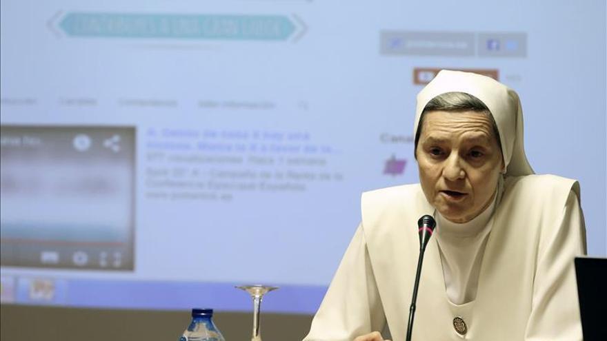 Sor Carmen Señor, religiosa de las Siervas de Jesús de la Caridad y protagonista de uno de los anuncios de televisión de la campaña de la renta.