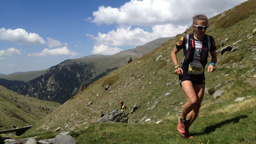 Núria Picas durante el Maratón de Els Bastions (© Suunto).