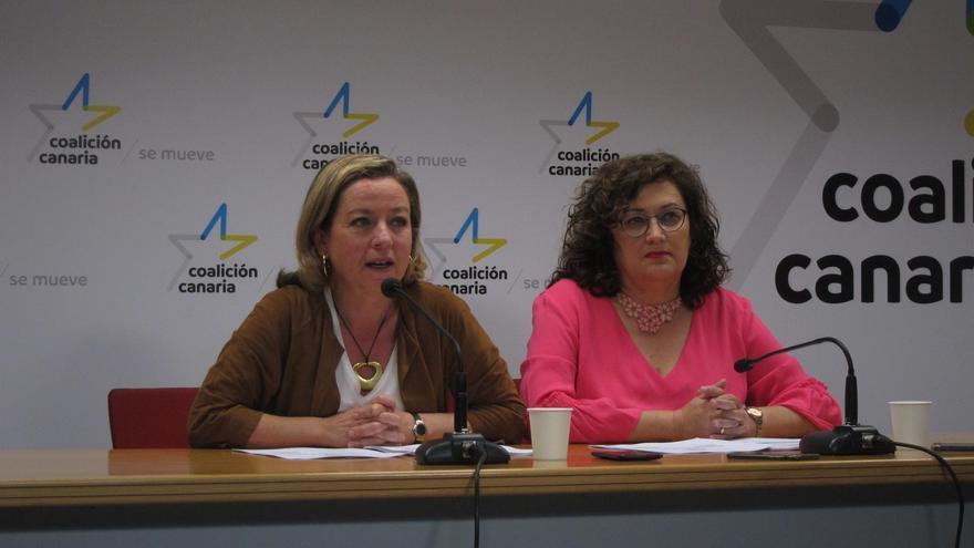 Ana Oramas y Guadalupe González Taño, la palmera número dos en la lista al Congreso por la provincia tinerfeña