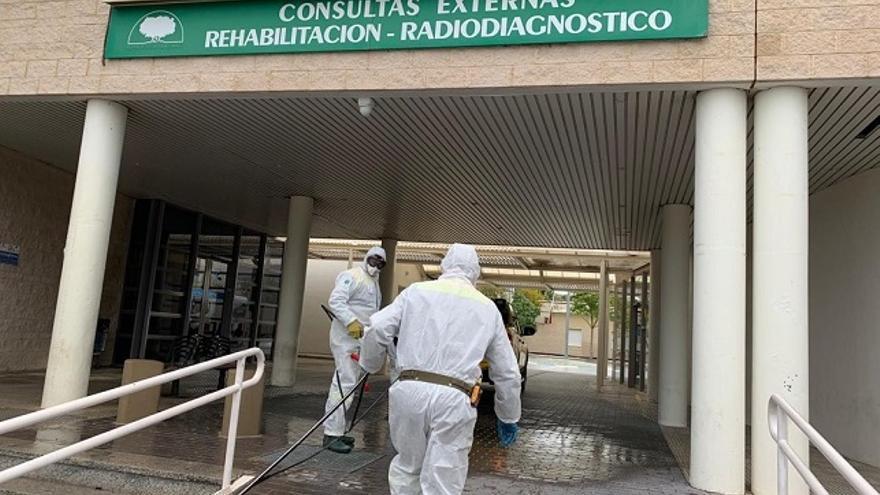 Desinfección de zonas comunes en hospitales en Murcia