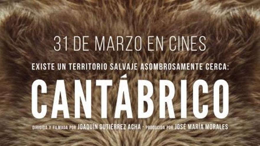 Cartel de 'Cantábrico. El dominio del oso pardo'.